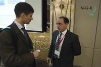 Абдулла Караев общается с участниками конференции
